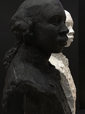 OlaudahEquiano, Equiano, sculpture, portrait, black, white, Christy Symington, abolitionist, slavery